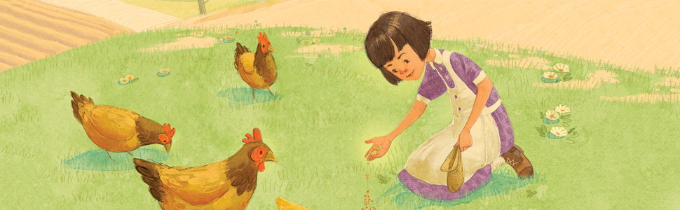 Beverly with Chickens