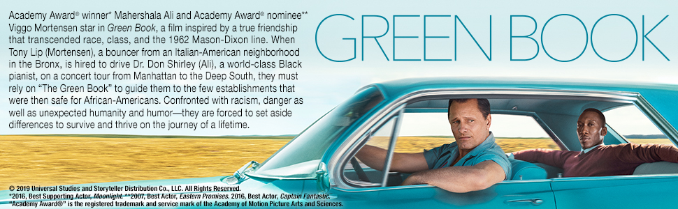 Green book, african american, true story, dvd, blu-ray, 4K, viggo mortensen, race, racial, drama