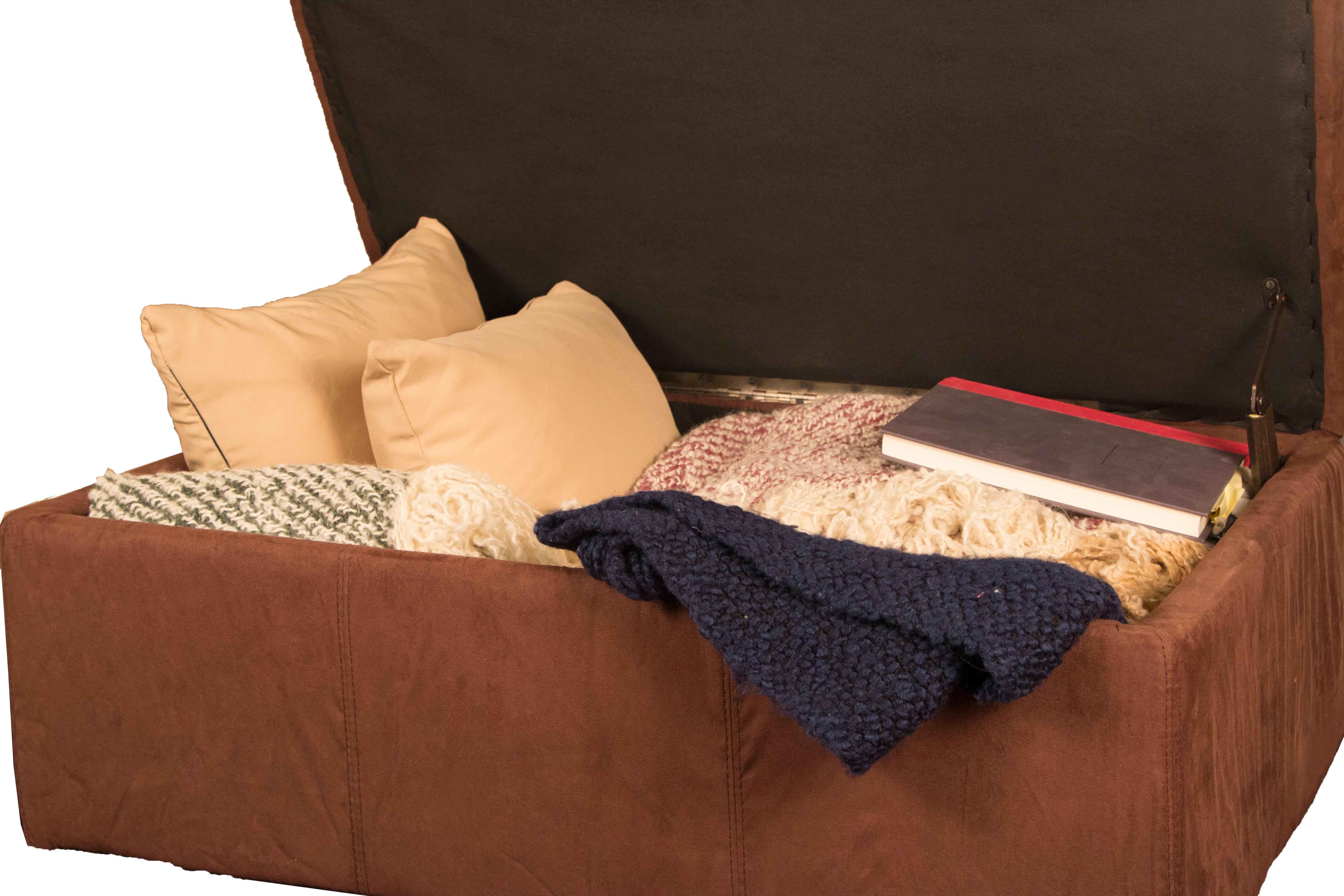 Epic Furnishings Padded Tufted Hinged Storage Ottoman Bench  sc 1 st  Amazon.com & Amazon.com: 24