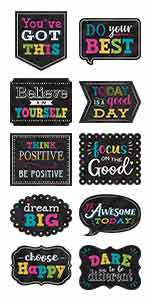 chalkboard brights positive sayings accents
