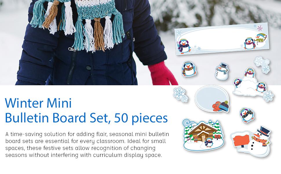 mini winter bulletin board set