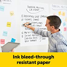 Ink bleed-through resistant paper