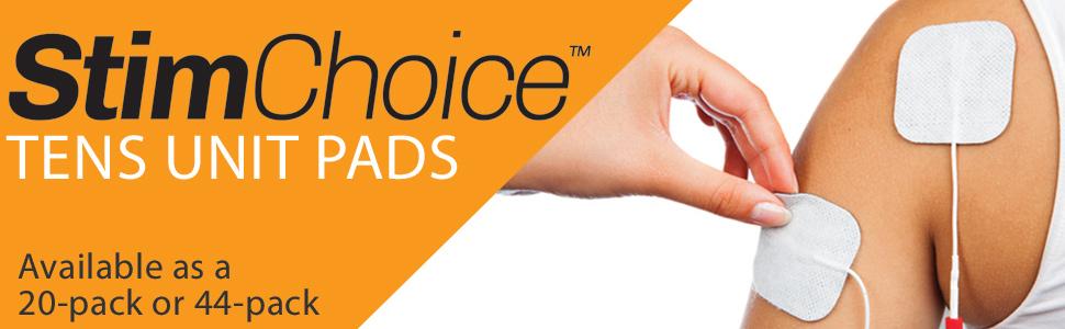 StimChoice 44 pack TENS unit pads