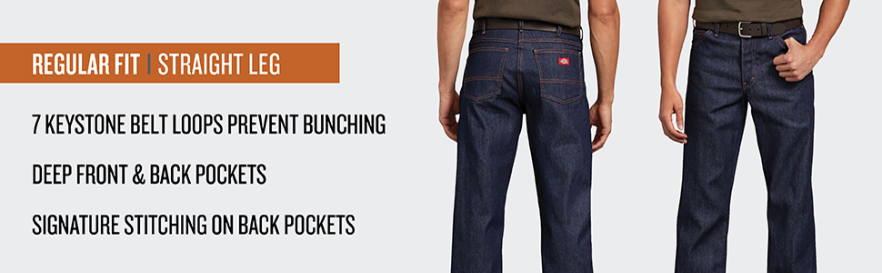 Jean, denim, 5 pocket jean, work jean, Carhartt, Levis, Wrangler, Lee, Red Kap, tee, men's jeans