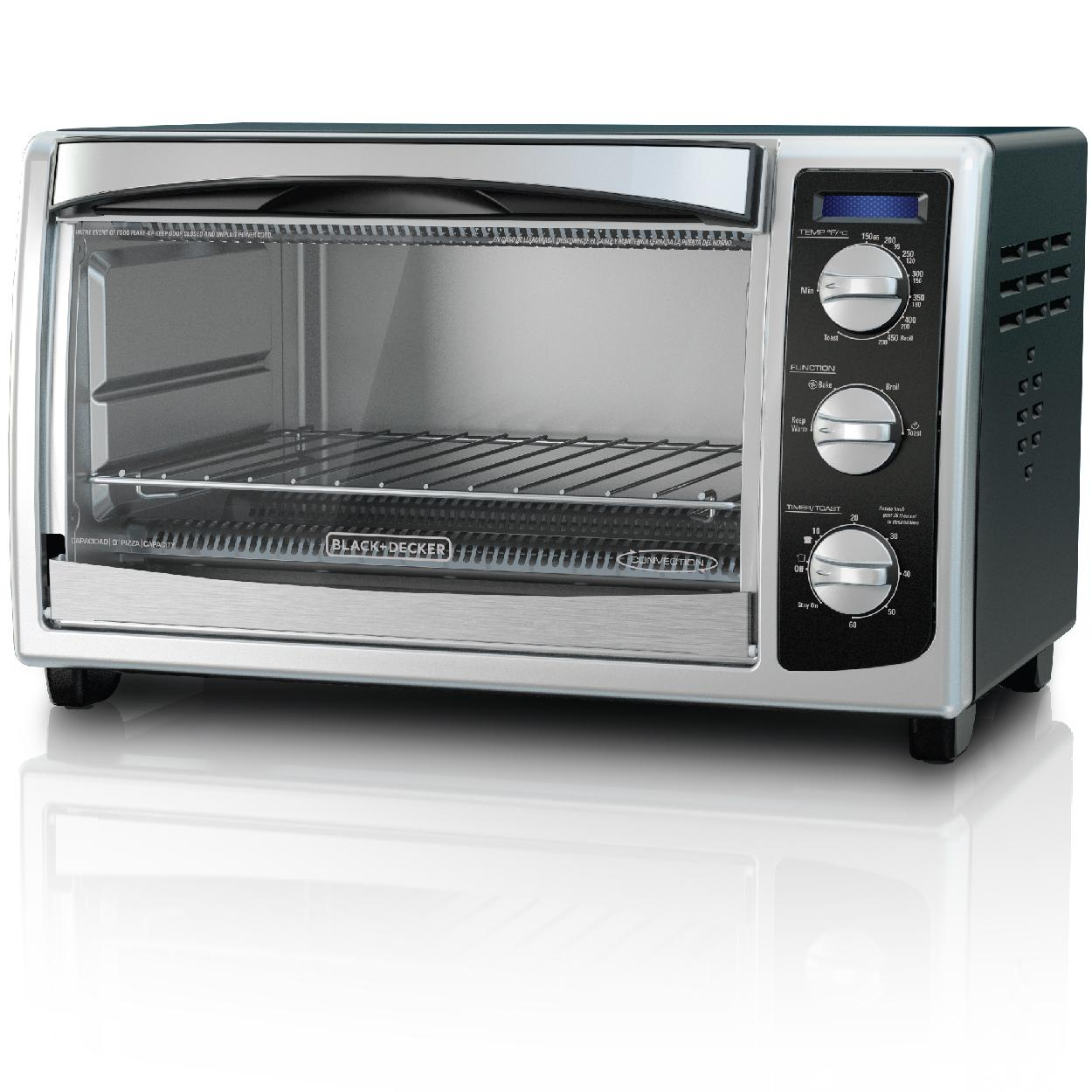 BLACK+DECKER TO1675B 6-Slice Convection Countertop Toaster ...