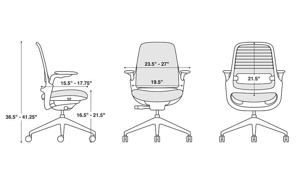 Steelcase Series 1 chair dimensions