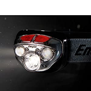 Keep both of your hands free and use your head with our comfortable and Energizer headlamp