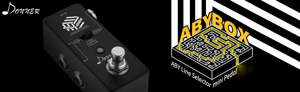 Donner ABY BOX Pedal,ABY Line Selector Mini Pedal