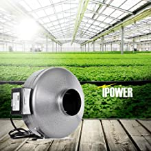 Amazon Com Ipower 4 Inch 190 Cfm Duct Inline Fan With 4