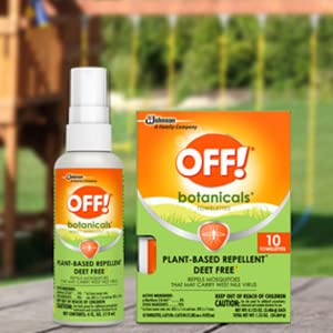 OFF! Botanicals provies effective, dependable protection from mosquitoes without DEET