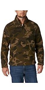 Wrangler Authentics Fleece Quarter Zip Pullover