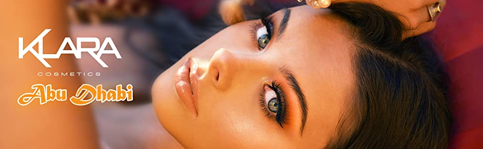 Klara Cosmetics Abu Dhabi 24 eyeshadow palette banner