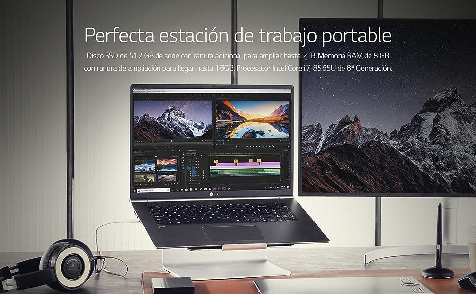LG gram 17Z990-V - Ordenador portátil ultrafino - 43.18 cm (17 ...