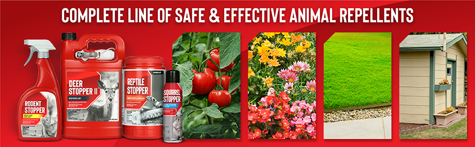 Complete line of safe and effective animal repellents