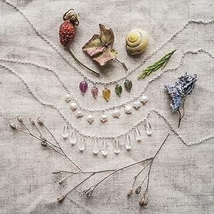beaded garland necklace crafts jewellery making beadwork nature winter autumn creative art making