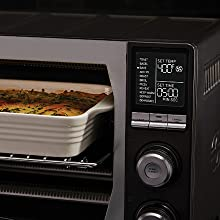 Close up of digital display panel for Calphalon Performance Air Fry Oven