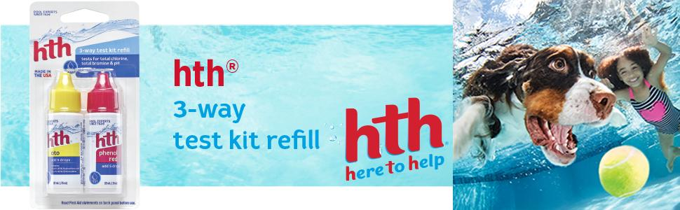 Hth 12070 3 way test kit refill swimming - Hth swimming pool test kit instructions ...