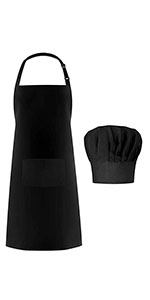 Apron and Chef Hat Set