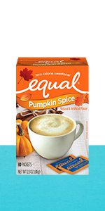 Equal Pumpkin Spice packets box