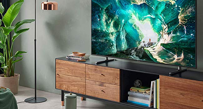 UHD TV in a living room