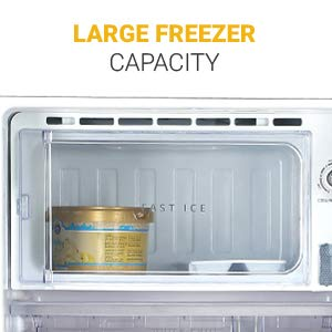 Large Freezer Capacity