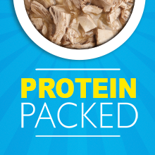 Protein packed wet dog food