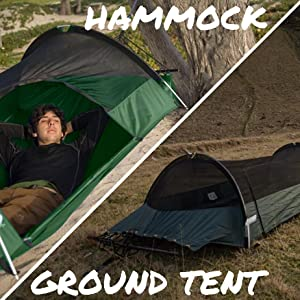 Lawson Hammock Blue Ridge Tent rainfly mosquito bug net hiking c&ing jungle beach forest winter & Amazon.com: Lawson Hammock Blue Ridge Camping Hammock and Tent ...