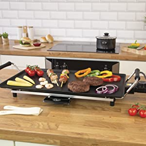 BBQ Style Kebabs and Burgers with Plenty of Vegetables