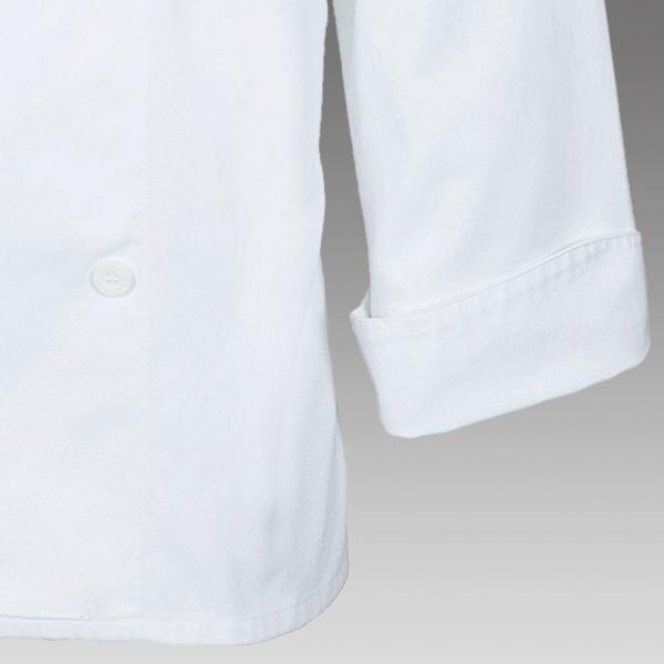 Mercer Culinary M62020WB1X Renaissance Mens Scoop Neck Chef Jacket X-Large White with Black Piping