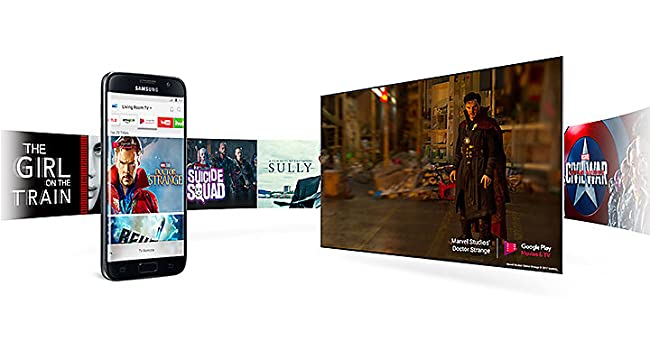 Smart View technology with your phone for the M5520 TV from Samsung