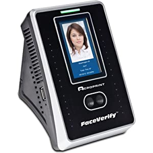 Acroprint timeQplus FaceVerify Facial Recognition Time and Attendance System Time Clock