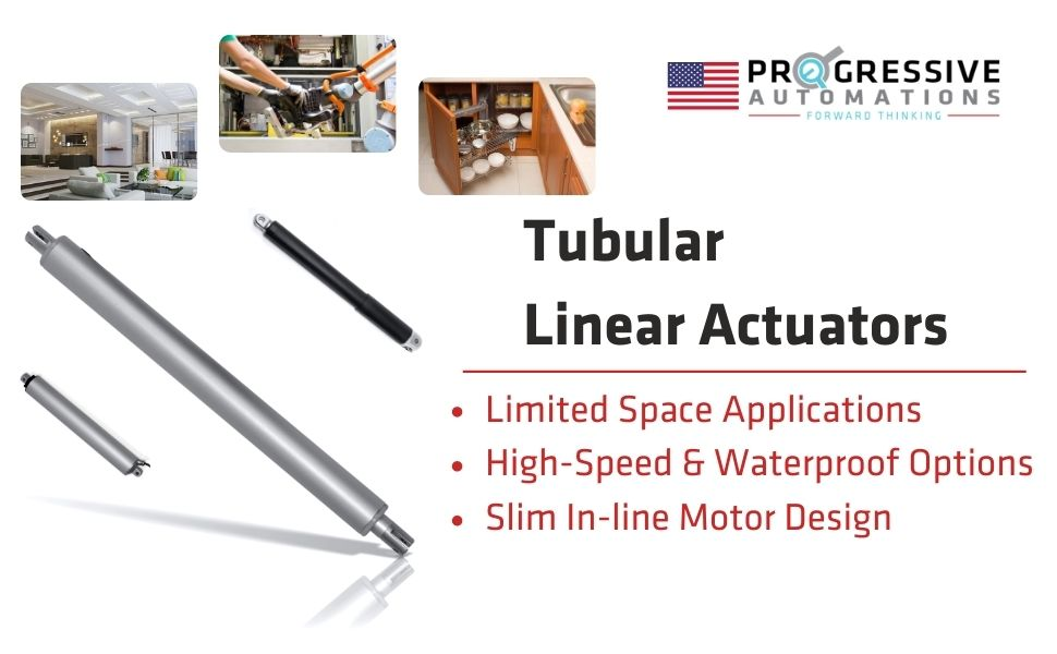 tubular tube waterproof high force heavy duty high force linear actuators  USA made