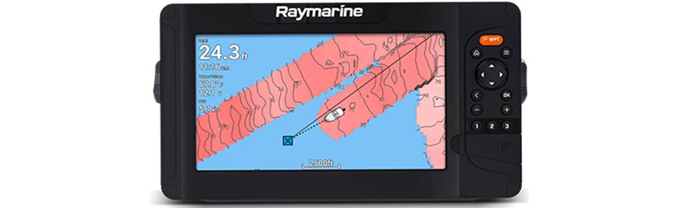 raymarine, element, sonar, fishfinder, GPS, CHIRP, sonarchart, autochart, realbathy, chartplotter