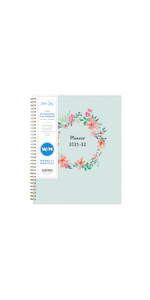 blue sky, laurel collection, academic planner, weekly, monthly, 2021-2022, 8.5x11