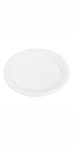 """10"""" x 8"""" Bagasse Oval Plate"""
