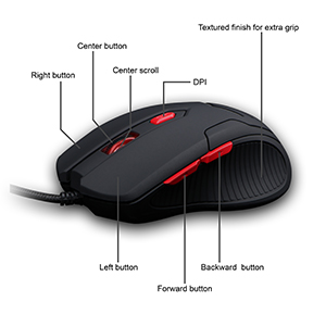 6 Buttons with DPI Switch