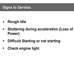 Sign to service your ignition coils