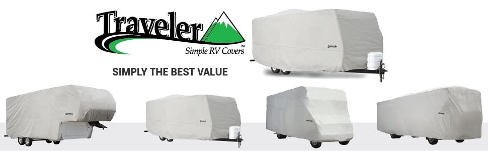 258L x 105W x 108H Expedition Class C RV Covers by Eevelle fits 18-20 Long Trailers