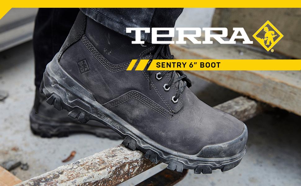 Terra Mens 6-Inch Sentry 2020 NT CP ESR Waterproof Slip-Resistant Work Boot