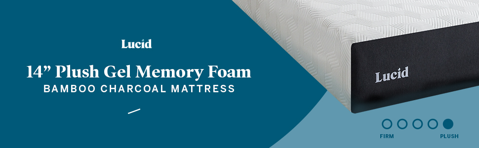 14 in plush gel memory foam mattress