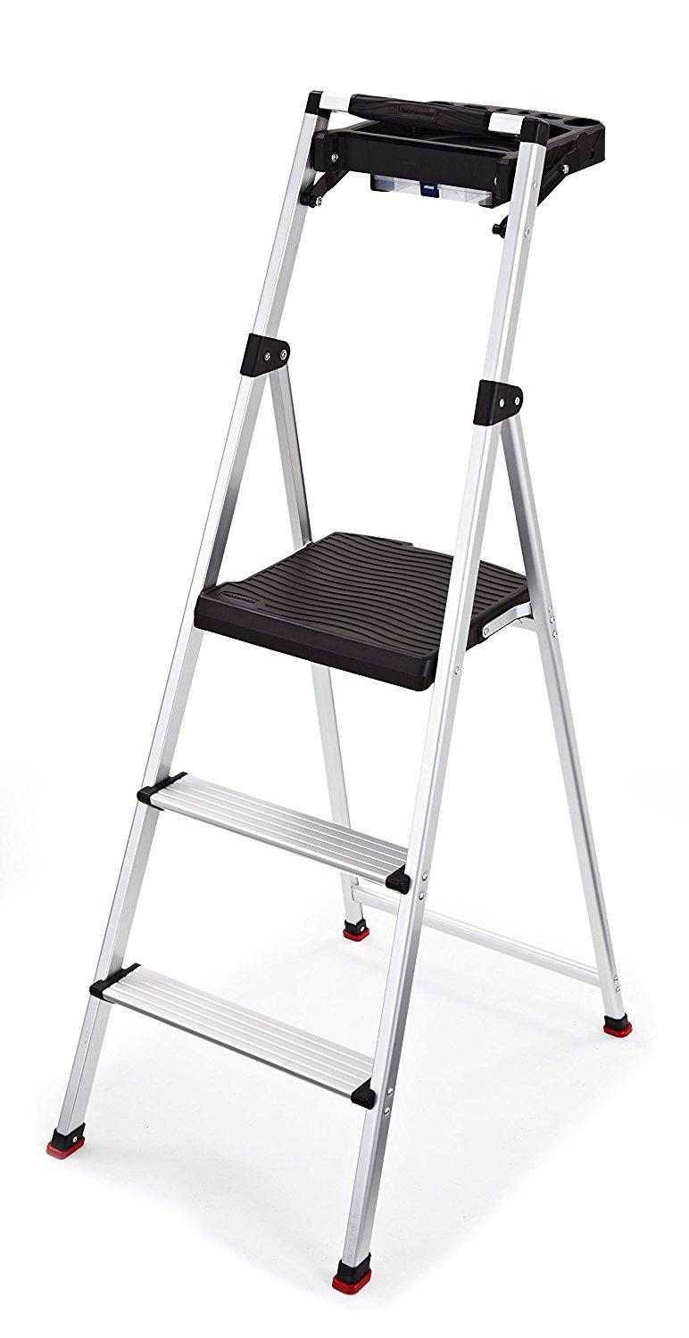 Rubbermaid Rma 3t 3 Step Lightweight Aluminum Step Stool