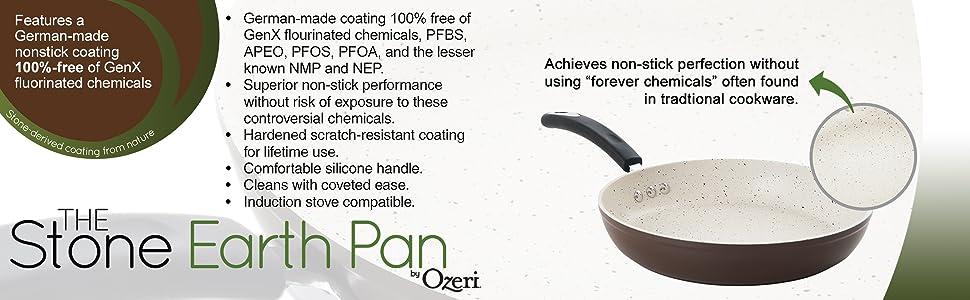 frying pan, induction pan, nonstick pan, omelette pan, pfoa free pan, professional pan, ptfe free