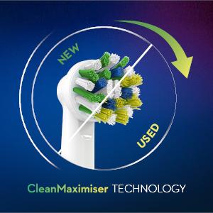 CleanMaximiser borstelharen technologie*