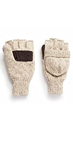 mens fingerless pop top mittens the sentry hot shot hunting oatmeal color