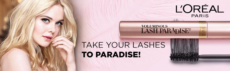 L'Oreal Paris Lash Paradise Mascara, Waterproof mascara, black