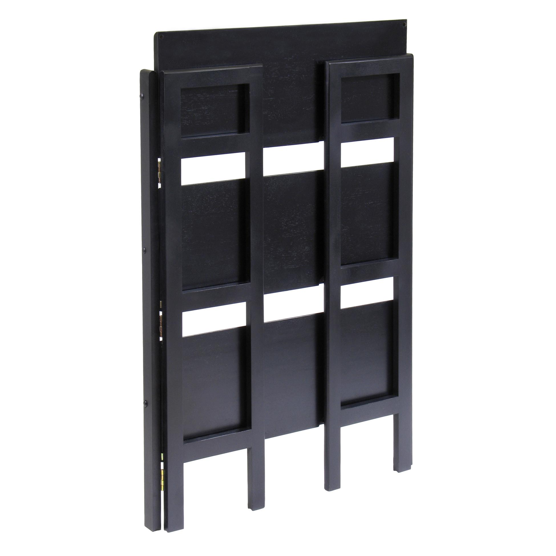 Amazon Winsome Wood Stackable Folding 3 Tier Shelf Black