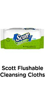 Scott Flushable Cleansing Cloths are pre-moistened for a cleaner feeling compared to dry tissue