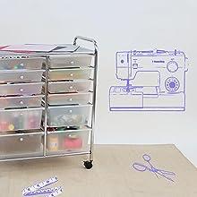 Rolling Craft Cart