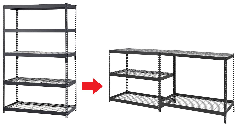 edsal mrop3618w5b steel storage rack 5 adjustable shelves. Black Bedroom Furniture Sets. Home Design Ideas