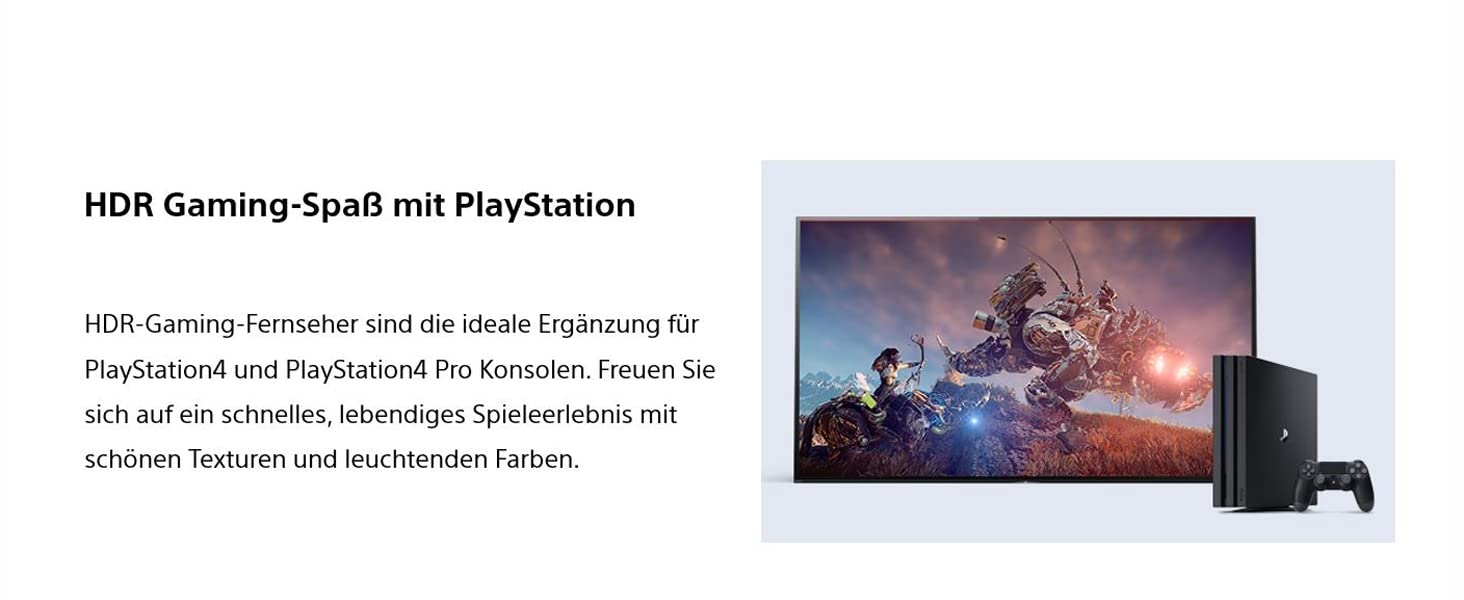 Sony Fernseher; 4K; HDR; Smart TV; WF665; Gaming; PlayStation; PS4